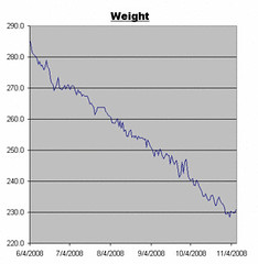 Weight Log for November 7. 2008