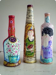 botellas (juliana bollini) Tags: de papel mache garrafas botellas