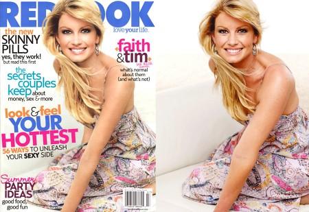 worst edited celebrity pics- Faith Hill