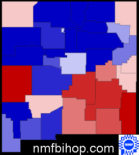 Sen 2008 New Mexico Map