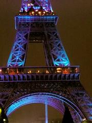 Eiffel Tower, South (manu/manuela) Tags: blue paris france tower night lights eiffeltower illuminations eiffel bleu toureiffel torreeiffel luci francia nuit notte mtal lumires sud fer parigi ferro mywinners facesud