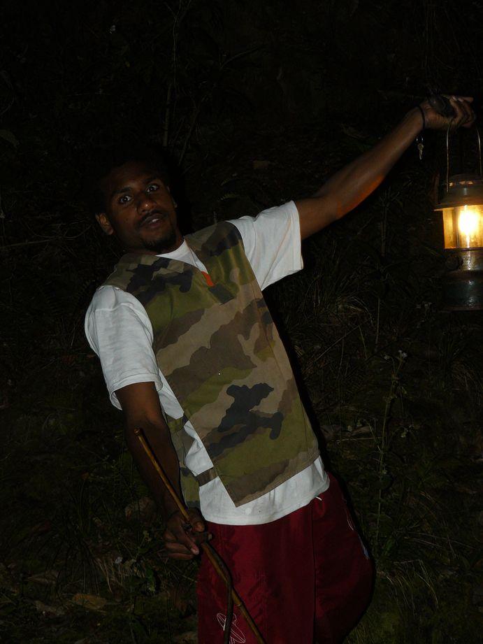 Coup de peche crevettes de Creek de nuit #2