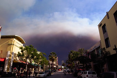 Disaster Movie (offstandard) Tags: county orange cloud dark fire scary ominous smoke linda ricoh brea yorba gx200