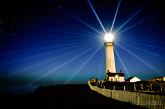 Pigeon Point Lighthouse - Star on the Pacific (Darvin Atkeson) Tags: california usa lighthouse america stars point landscape coast us long exposure pigeon pigeonpoint starburst starlight  darvin   bej atkeson  darv theperfectphotographer  lighthousetrek  liquidmoonlightcom liquidmoonlight lightkeeperaward