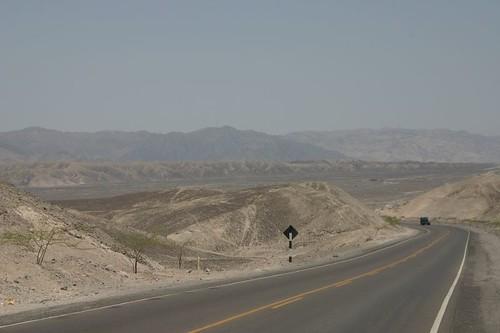 Arid cycling north of Nazca, Peru.
