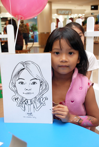 caricature live sketching for West Coast Plaza day 1 - 2