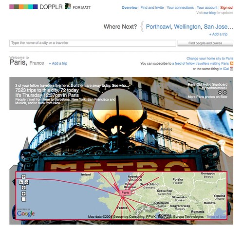 DOPPLR_ Paris, Logged-in