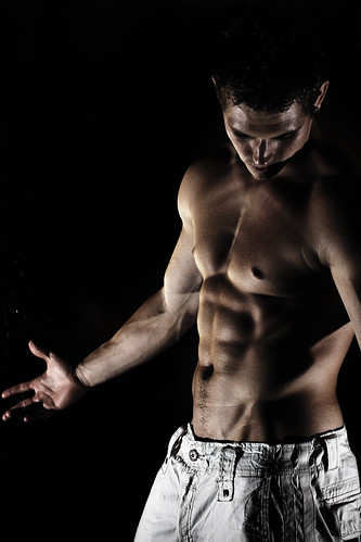 Defined Male Six Pack Abdominal Muscles