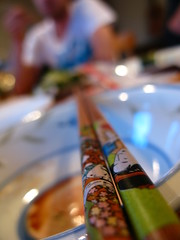 Sushi with Kevin and flatmates in Christchurch, New Zealand