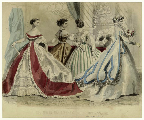 005-Les modes parisiennes, Peterson's magazine, January 1867.