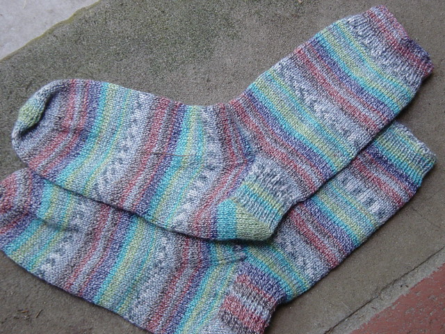 Last Blast of Summer Socks by debknits