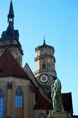 Memorial To Friedrich Schiller (MarkusR.) Tags: statue memorial stuttgart schiller denkmal stiftskirche schillerplatz friedrichschiller abbeychurch markusrieder mrieder bertelthorvalsen 20081127nd4037