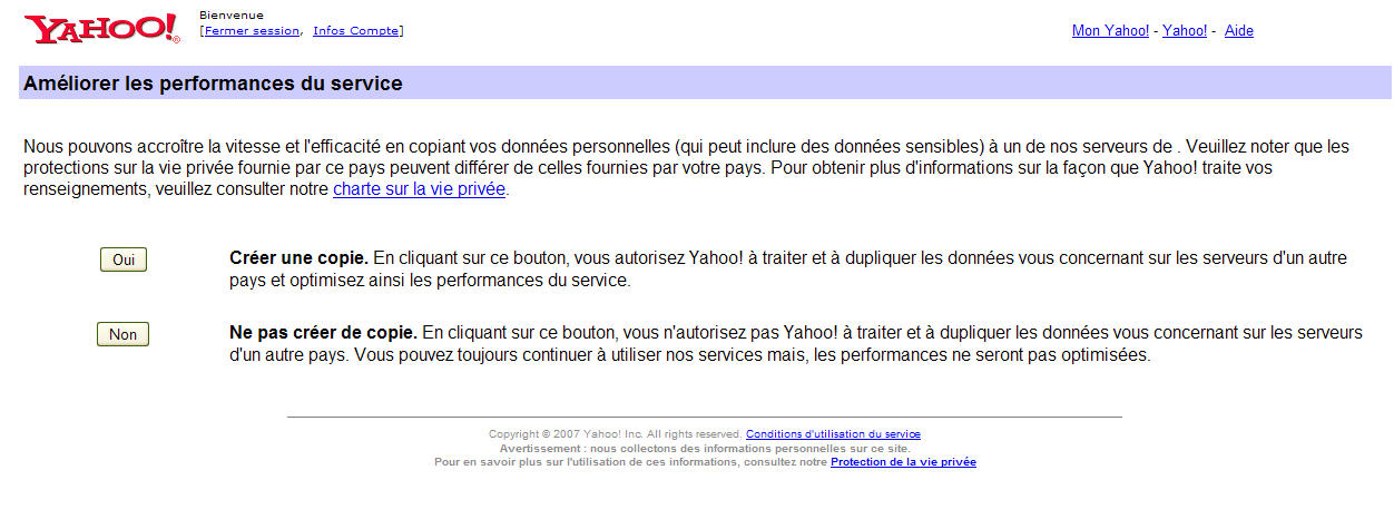 Yahoo-donnees