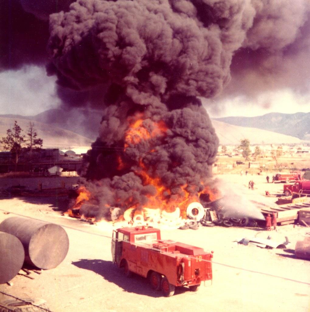 Tire fire in Missoula MT May 73