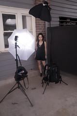 Setup Shots (Simon Wilde Photography) Tags: umbrella bag stand model flash makeup location setup speedlight softbox cls d300 lowpro strobist su800