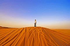 Life On Mars (CristalArt) Tags: blue red sky white colors yellow digital photoshop canon lens photography raw loneliness view desert angle space horizon dune wide tracks super east adventure experience format middle plain riyadh 1022mm nasser ksa vftw