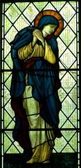 Virgin Mary, Llantrisant (robin.croft) Tags: church wales victorian stainedglass virginmary burnejones bvm llantrisant morrisco midglamorgan edwardburnejones