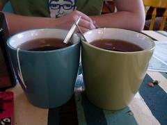 You & me. (lovebirds & seahorses) Tags: mugs cafe tea norwich spoons earlgrey breakfasttea franksbar