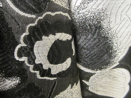 Black and White Floral Textile Design