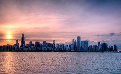 Another Day is Gone (Christopher.F Photography) Tags: city sunset sky chicago water skyline high nikon cityscape dynamic sigma 1020mm range hdr d3000