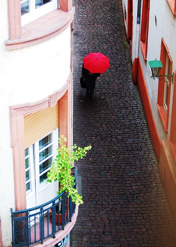 Umbrella in the alley