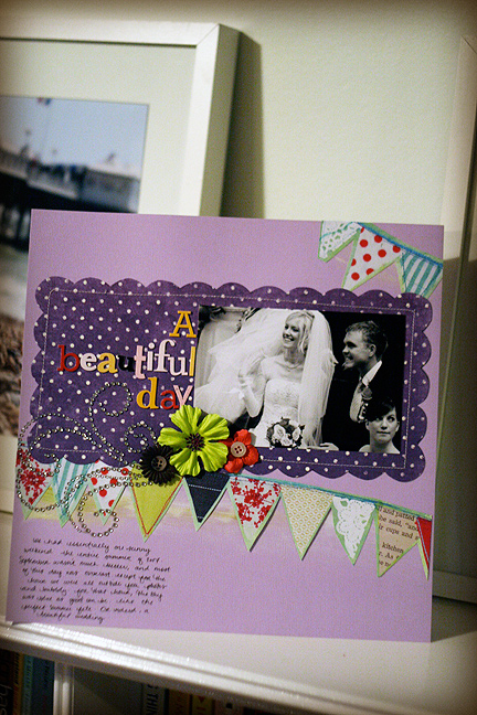 Scrapbook page: wedding