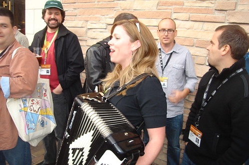 Krista Playing Joey's Accordion