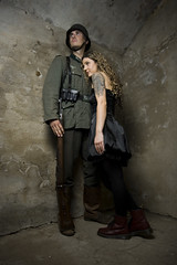 Astrid and the Soldier (Jon McManus) Tags: portrait girl wall soldier model couple sigma1020mm sb26 fortlytton pz40x strobist nikonsb26 sunpakpz40x bnesa2 bnesa2malcolm bnesa2astrid