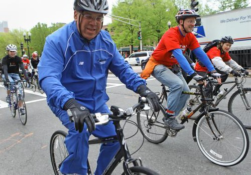Mayor Menino on wheels, last month's event