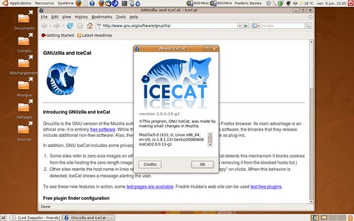 IceCat, le Firefox version GNU...