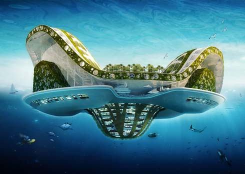 Future Architecture : Floating Ecopolis for Climate Refugees
