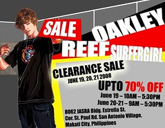 OAKLEY, REEF & SURFER GIRL CLEARANCE SALE