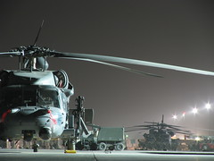 Old Busted / New Hotness (hh60gunner55) Tags: rescue nightshot iraq helicopter blackhawk usaf pavehawk mh53 50cal csar pavelow hh60g excapture 55thrqs
