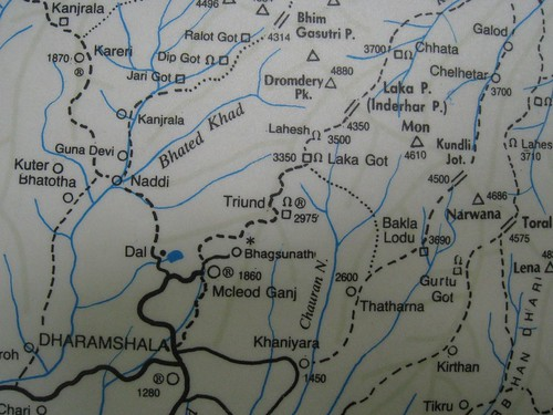 Trekking map of Himachal Pradesh