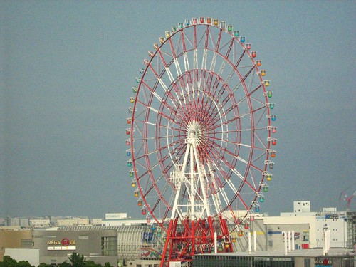 Odaiba Ferris Wheel, viewed form the 2nd highest floor of Fuji TV office