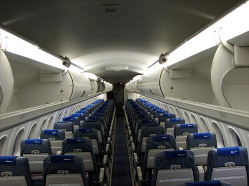 airtravel photos: Flybe Dash 8 Q400 cabin view