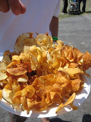 fresh-fried potato chips