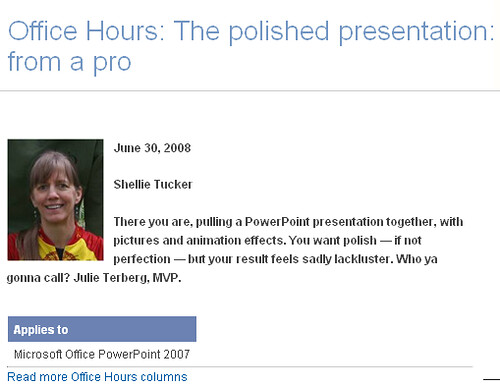 Office Hours: The Polished Presentation