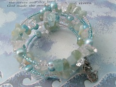 mermaid delight (dizzydollydiamond) Tags: handmade aquamarine jewellery mermaid glassbeads freshwaterpearls
