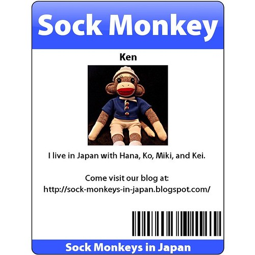Sock Monkey Ken's Official Badge (by martian cat)
