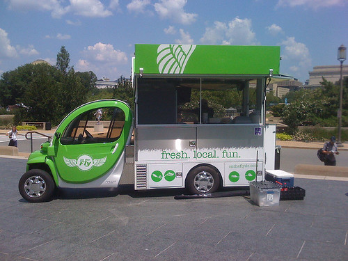 Mobile lunch truck outside of the Hirshhorn Museum in Washington DC -  Taken With An iPhone