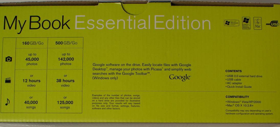 external hdd package