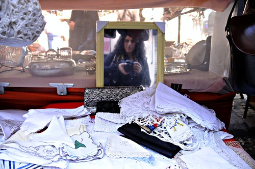 Portrait of a Woman at a Flea Market