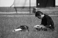 Work (seespotsplat) Tags: grass work sketch concentrate