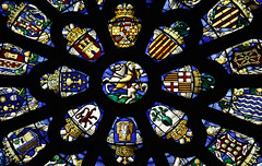 Santiago - Protector of Spain (Lawrence OP) Tags: london church glass spain heraldry catholic stained stjames apostle spanishplace