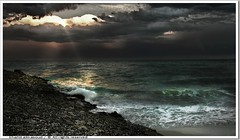 Stormy day -  Kuwait (khalid almasoud) Tags: winter sea sky beach club clouds work dark season day photographer darkness group stormy center 2006 science april kuwait  khalid dense voluntary covering distinctive darknees  almasoud anawesomeshot