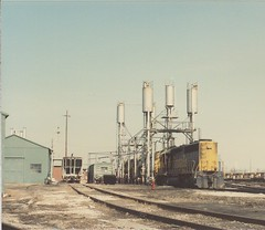 The Atchinson, Topeka & Santa Fe Corwith Yard engine terminal. Chicago Illinos. March 1985.
