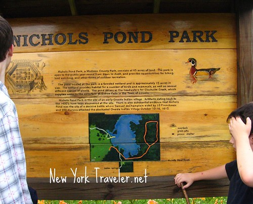 Nichols Pond Park Sign with map
