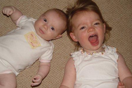 My girls three years ago