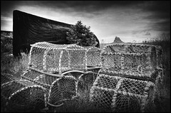 Lobster Pots (s81photos) Tags: castle boat nikon pots northumberland lobster hdr holyisland lindisfarne d300 photomatix wab2008aug